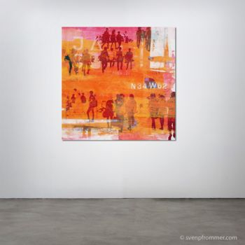 """Printmaking titled """"HUMAN CROWD IV - by…"""" by Sven Pfrommer, Original Art, Analog Print"""