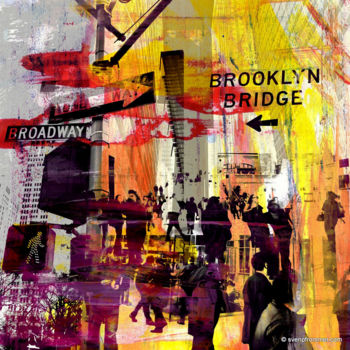"""Printmaking titled """"NY DOWNTOWN X by Sv…"""" by Sven Pfrommer, Original Art, Analog Print"""