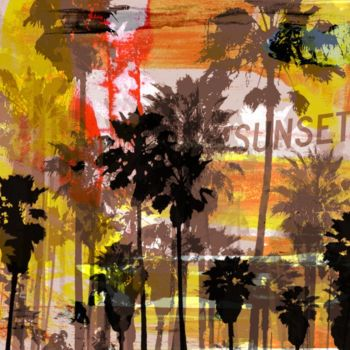 """Printmaking titled """"VENICE BEACH II by…"""" by Sven Pfrommer, Original Art, Analog Print"""