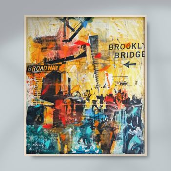 """Printmaking titled """"NY POP UP - Mixed m…"""" by Sven Pfrommer, Original Art, Analog Print"""