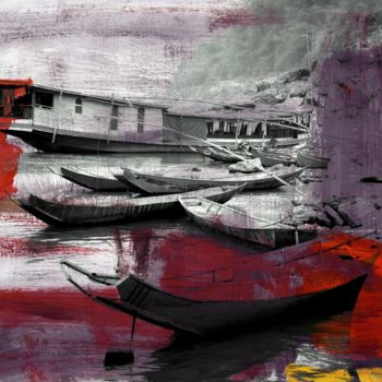 """Printmaking titled """"Waterworld III by S…"""" by Sven Pfrommer, Original Art, Analog Print"""