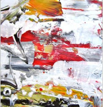 """Painting titled """"Abstract 09"""" by Delphine Bernard, Original Art,"""