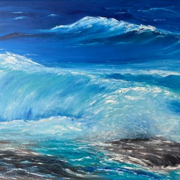 """Painting titled """"Wind of sea"""" by Tanja Frost, Original Art, Oil"""