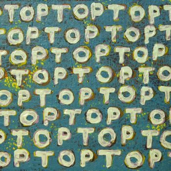 """Painting titled """"""""TOP"""""""" by Teodor Isfan, Original Art, Acrylic Mounted on Cardboard"""