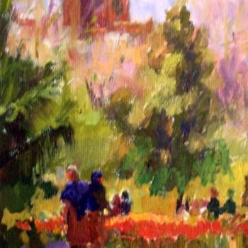Painting, oil, artwork by Don Bourret