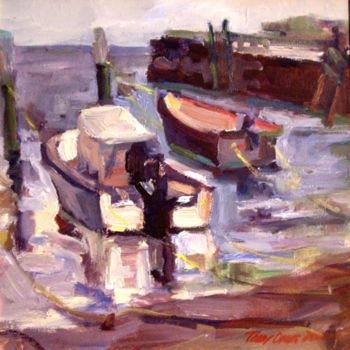 """Painting titled """"Madison Boats"""" by Don Bourret, Original Art, Oil"""
