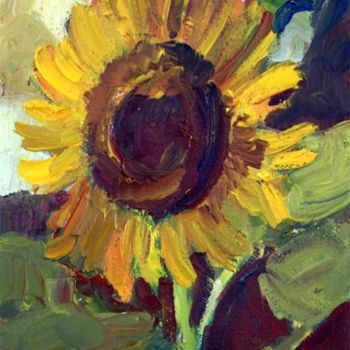 """Painting titled """"Sunflower"""" by Don Bourret, Original Art, Oil"""