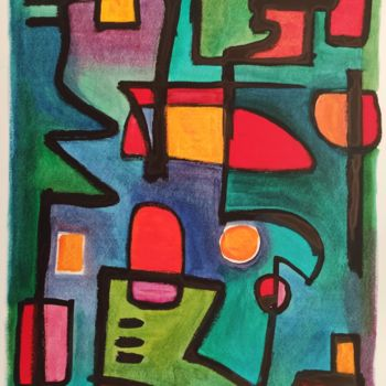 """Painting titled """"Rothko's mind"""" by Thia Path, Original Art, Oil"""