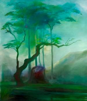 """Painting titled """"Dawn of light"""" by Thushara A., Original Art, Oil"""