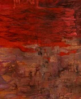 """Painting titled """"MASSACRE"""" by Thushara A., Original Art, Oil"""