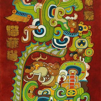 """Painting titled """"Vision II"""" by Tikal, Original Art,"""