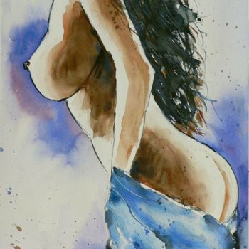 Painting, watercolor, artwork by Tito Fornasiero