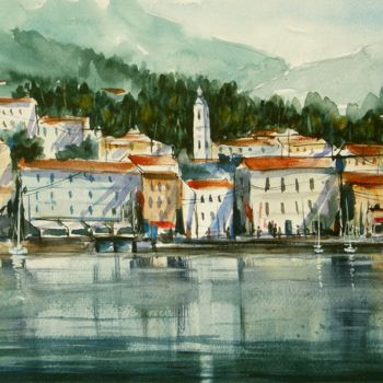 Painting, watercolor, impressionism, artwork by Tito Fornasiero