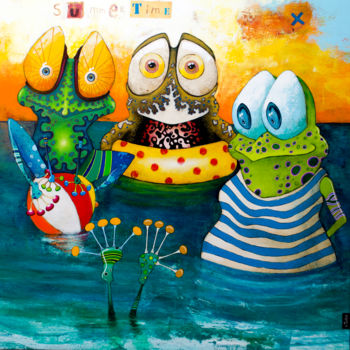 """Painting titled """"Summertime"""" by Toma, Original Art, Acrylic"""