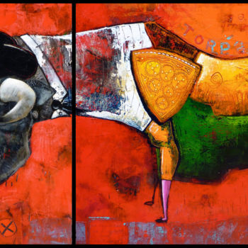 """Painting titled """"Toreador"""" by Toma, Original Art, Acrylic"""