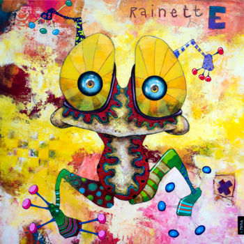 """Painting titled """"Rainette Coccinelle"""" by Toma, Original Art, Acrylic"""