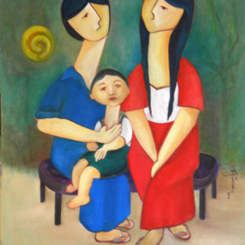 """Painting titled """"our-sweet-baby-jame…"""" by Miriam Besa, Original Art, Oil"""
