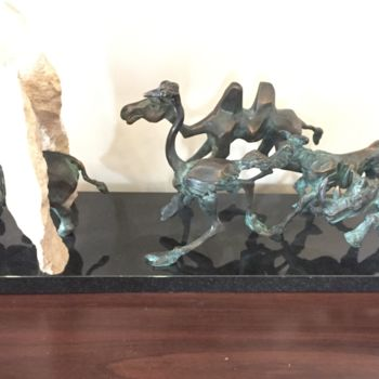 """Sculpture titled """"Road to freedom"""" by Kristof Toth, Original Art, Bronze"""