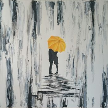 """Drawing titled """"In the rain"""" by Katerina Evgenieva, Original Art, Ink"""
