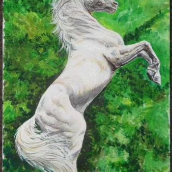 Horse Painting, artwork by Katerina Evgenieva