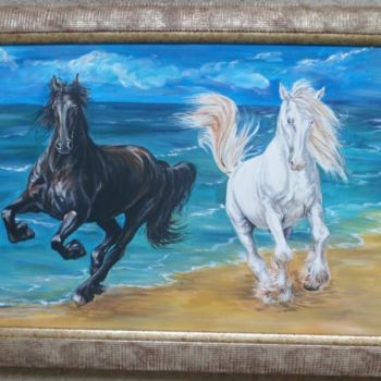 """Painting titled """"Gusty gallop"""" by Katerina Evgenieva, Original Art,"""