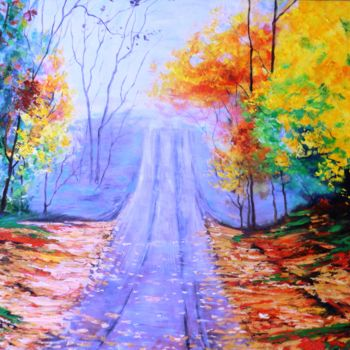 Painting, oil, expressionism, artwork by Katerina Evgenieva