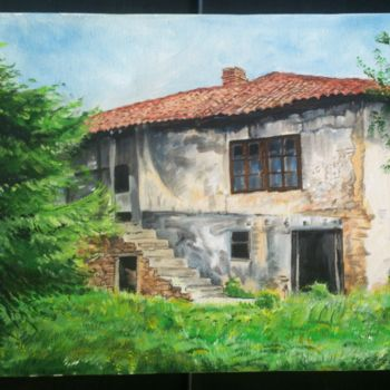 """Painting titled """"Old house"""" by Katerina Evgenieva, Original Art, Oil"""