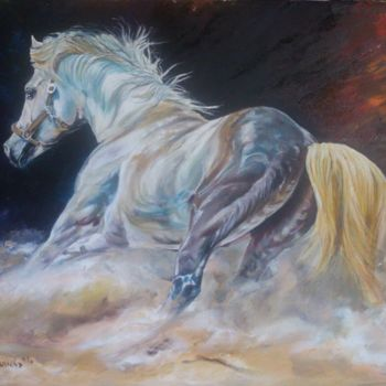 Horse Painting, oil, figurative, artwork by Katerina Evgenieva