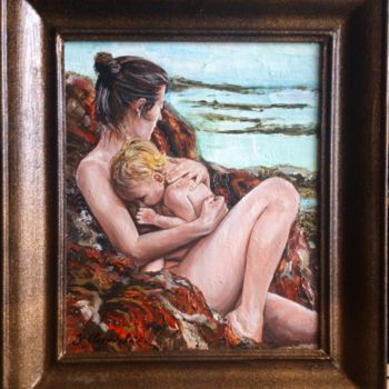 """Painting titled """"Madonna with baby"""" by Katerina Evgenieva, Original Art, Oil"""