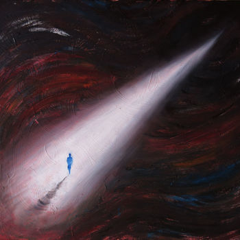"""Painting titled """"Always on your Way"""" by Un Air De Kiwano, Original Art, Oil"""