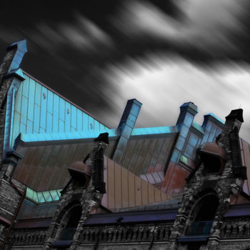 """Photography titled """"Speicherstadt 2"""" by Wouter Koster, Original Art, Manipulated Photography Mounted on Other rigid panel"""