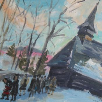 """Painting titled """"'FESTIVE DAY IN ROM…"""" by Vasyl, Original Art,"""