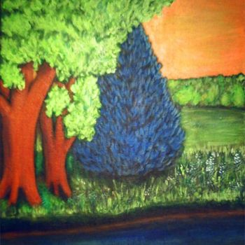 """Painting titled """"Bluespruce"""" by Vcasey, Original Art,"""