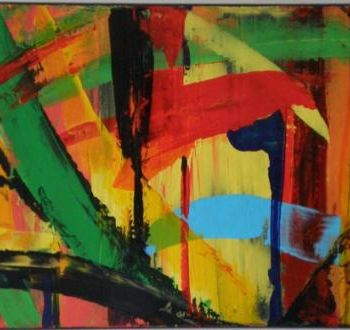 """Painting titled """"Abstract jungle"""" by Vcasey, Original Art,"""