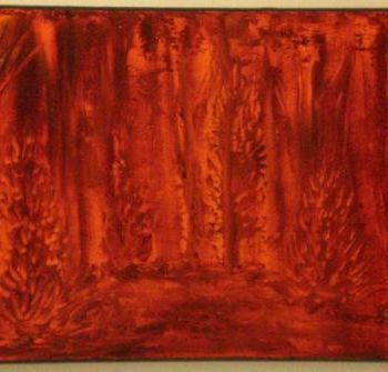 """Painting titled """"friend forest"""" by Vcasey, Original Art,"""