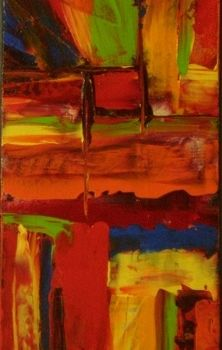 """Painting titled """"red square"""" by Vcasey, Original Art,"""