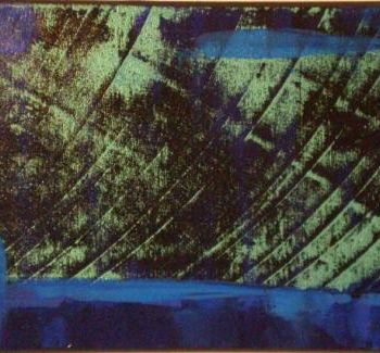 """Painting titled """"zone bleu"""" by Vcasey, Original Art,"""