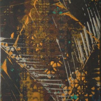 """Painting titled """"Silver & Gold"""" by Vcasey, Original Art,"""
