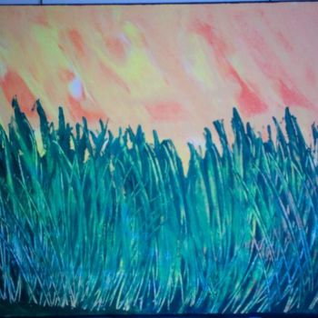 """Painting titled """"April grass"""" by Vcasey, Original Art,"""