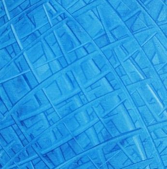 """Painting titled """"cyan weave"""" by Vcasey, Original Art,"""