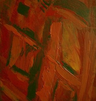 """Painting titled """"rouge"""" by Vcasey, Original Art,"""