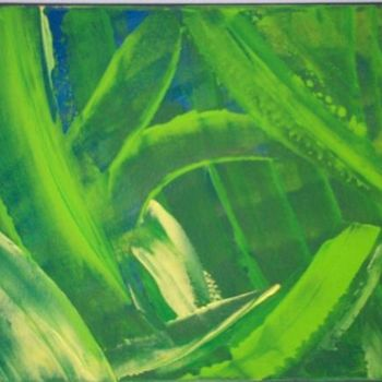"""Painting titled """"green dream"""" by Vcasey, Original Art,"""