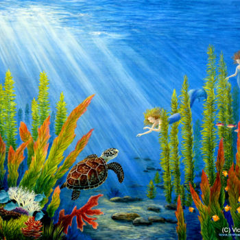 """Painting titled """"At the Edge of the…"""" by Victoria Armstrong, Original Art, Acrylic"""