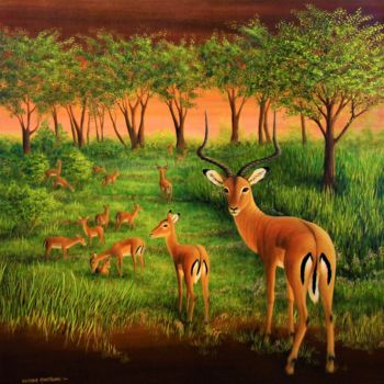 Animal Painting, acrylic, figurative, artwork by Victoria Armstrong