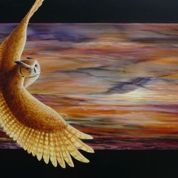 """Painting titled """"Dawn Rising"""" by Victoria Armstrong, Original Art, Oil"""