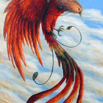 """Painting titled """"Phoenix Rising"""" by Victoria Armstrong, Original Art,"""