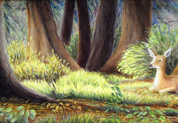 Forest Painting, artwork by Victoria Armstrong