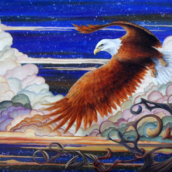Bird Painting, acrylic, artwork by Victoria Armstrong