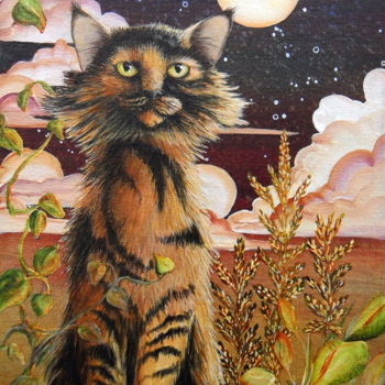 """Painting titled """"As Night Creeps in…"""" by Victoria Armstrong, Original Art, Acrylic"""