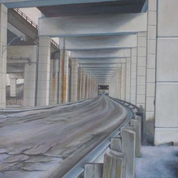 """Painting titled """"Eastbound Geometry"""" by Victoria Wallace, Original Art,"""
